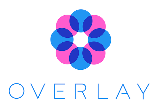 Overlay ai logo. A circle of lense.